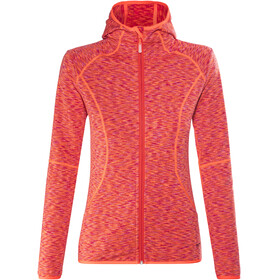 Meru Sitia Fleece Hoody Women Orange Muliticolor